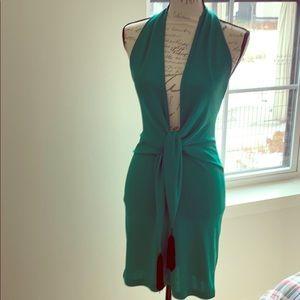 BCBG Green Halter from tie dress